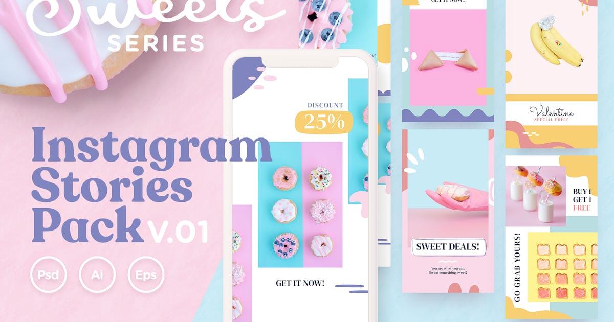 Download Instagram Stories Pack v.01 Sweets Series by telllu