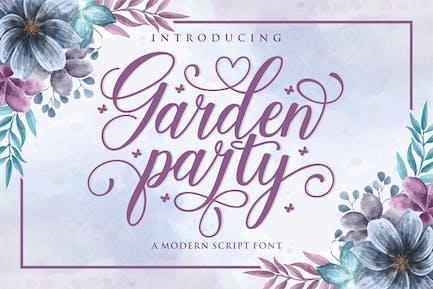 Fuente de script para fiestas de jardín