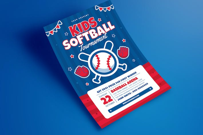Thumbnail for Kids baseball Tournament Flyer
