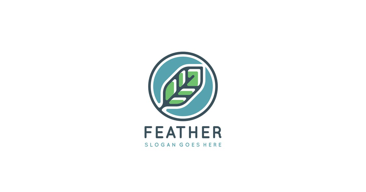 Download Feather Logo Design by 3ab2ou