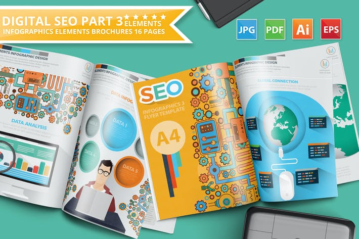 Thumbnail for SEO Search Engine Optimisation Infographic Design