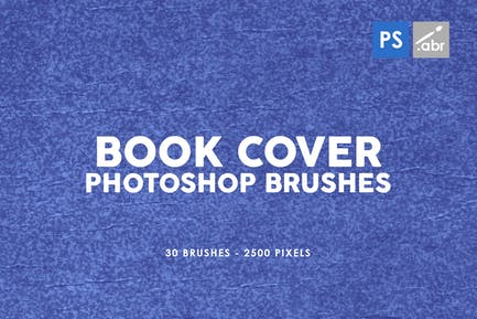 30 Retro Book Cover Photoshop Stamp Brushes