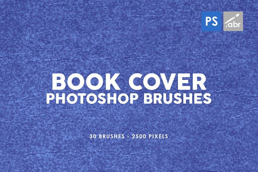 30 Ретро Обложка книги Photoshop штамп Кисти
