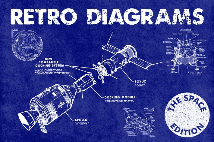 Thumbnail for Retro Diagrams - Space Edition
