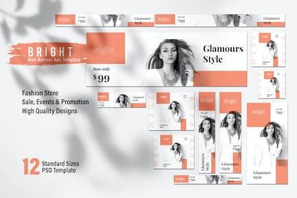 BRIGHT Fashion Store Web Banner Ads