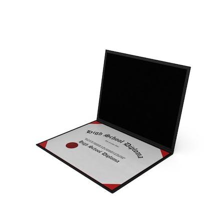Diploma de bachillerato en carpeta