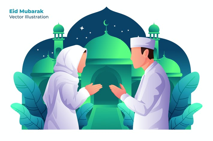 Thumbnail for Eid Mubarak - Vector Illustration