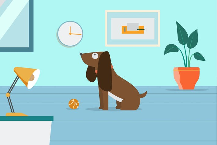 Thumbnail for Cute Dog Illustration