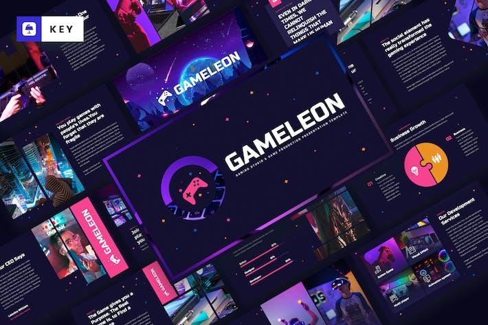 Thumbnail for Gameleon - Gaming Studio Keynote Template