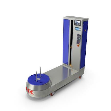 Flughafen Gepäck Koffer Wickelmaschine