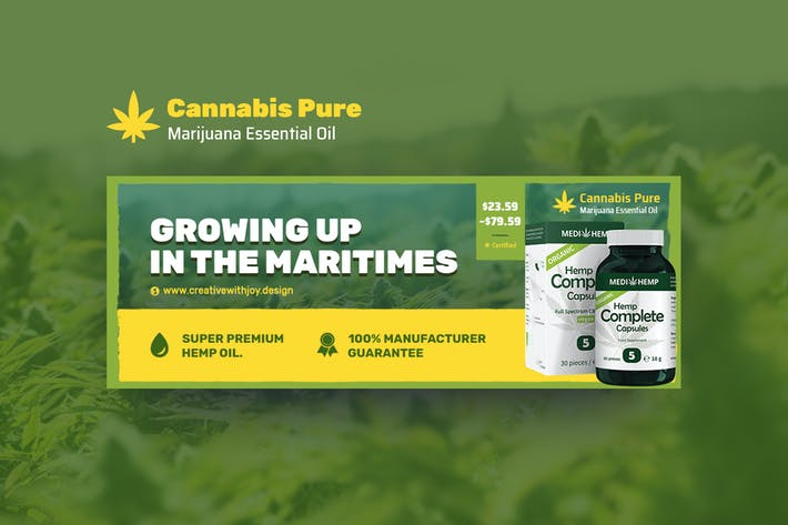 Thumbnail for Cannabis Hemp Oil Products Facebook Cover
