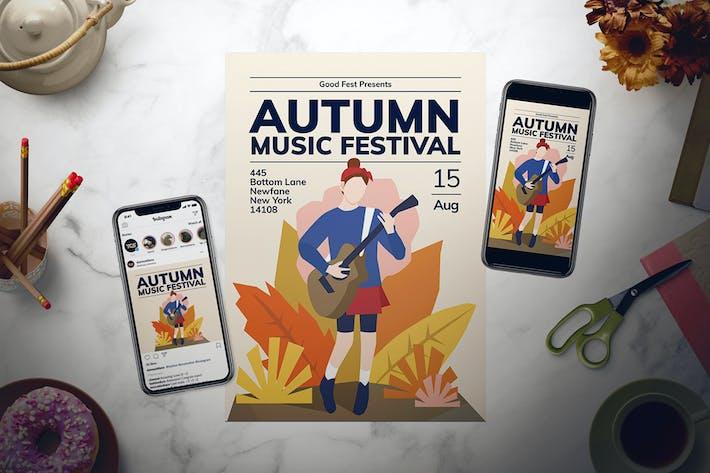 Thumbnail for Autumn Music Festival Flyer Set