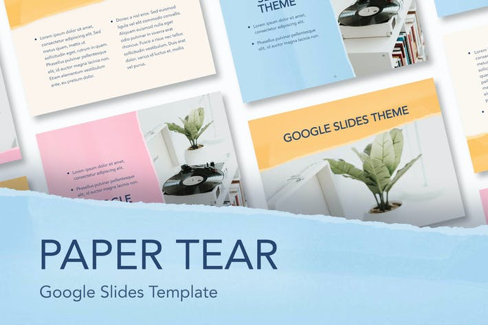 Thumbnail for Paper Tear Google Slides Template