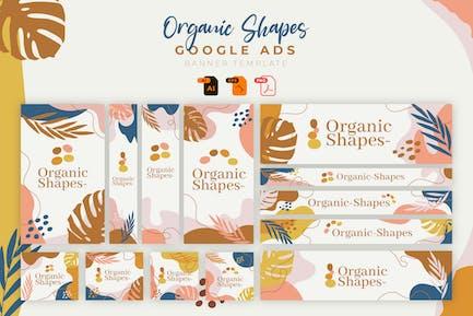 Organic Shapes Google Ad Banner Template Vol. 05