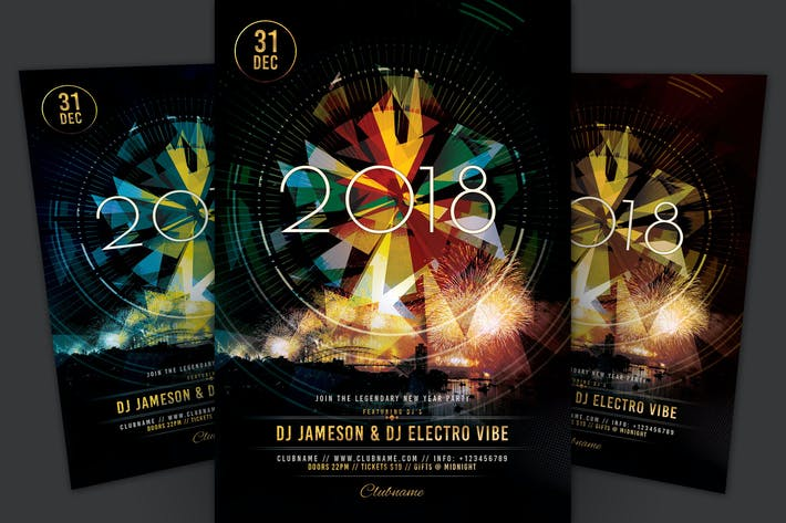 Cover Image For NYE 2018 Flyer