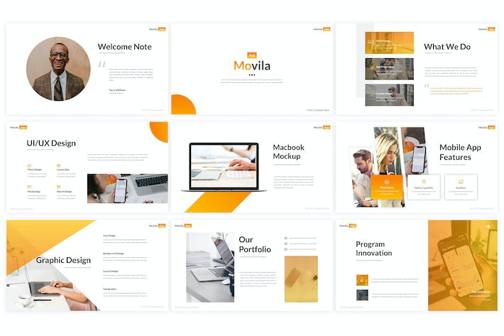Thumbnail for Movila - Powerpoint Template