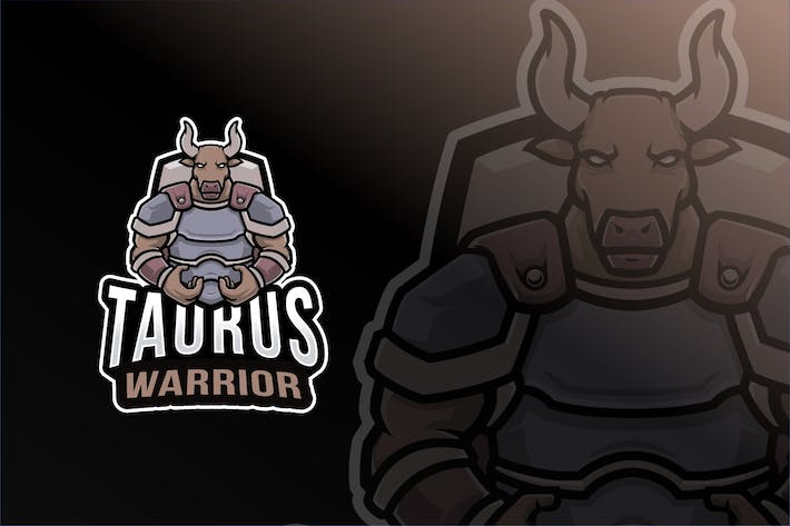 Thumbnail for Taurus Warrior Logo Template