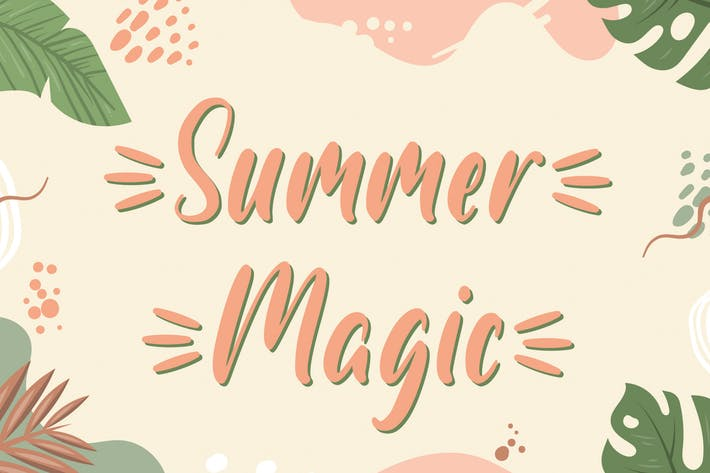 Thumbnail for Summer Magic - Fuente manuscrita