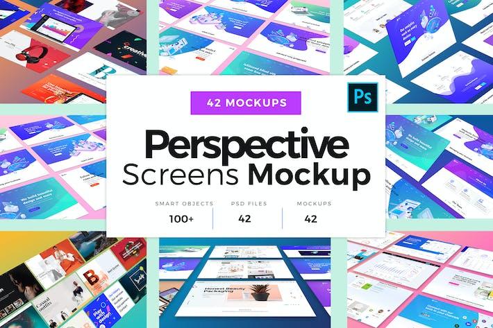 Thumbnail for Pack Mockup Écrans de perspective