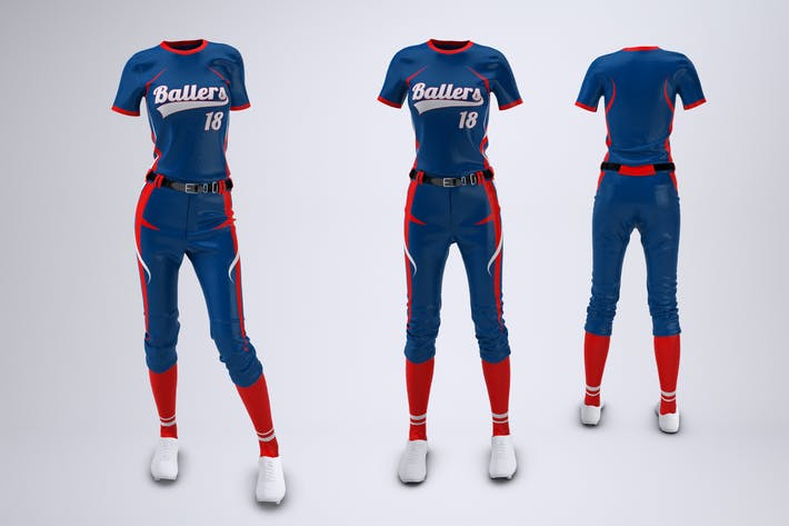 Women's Softball Uniform Mock-Up