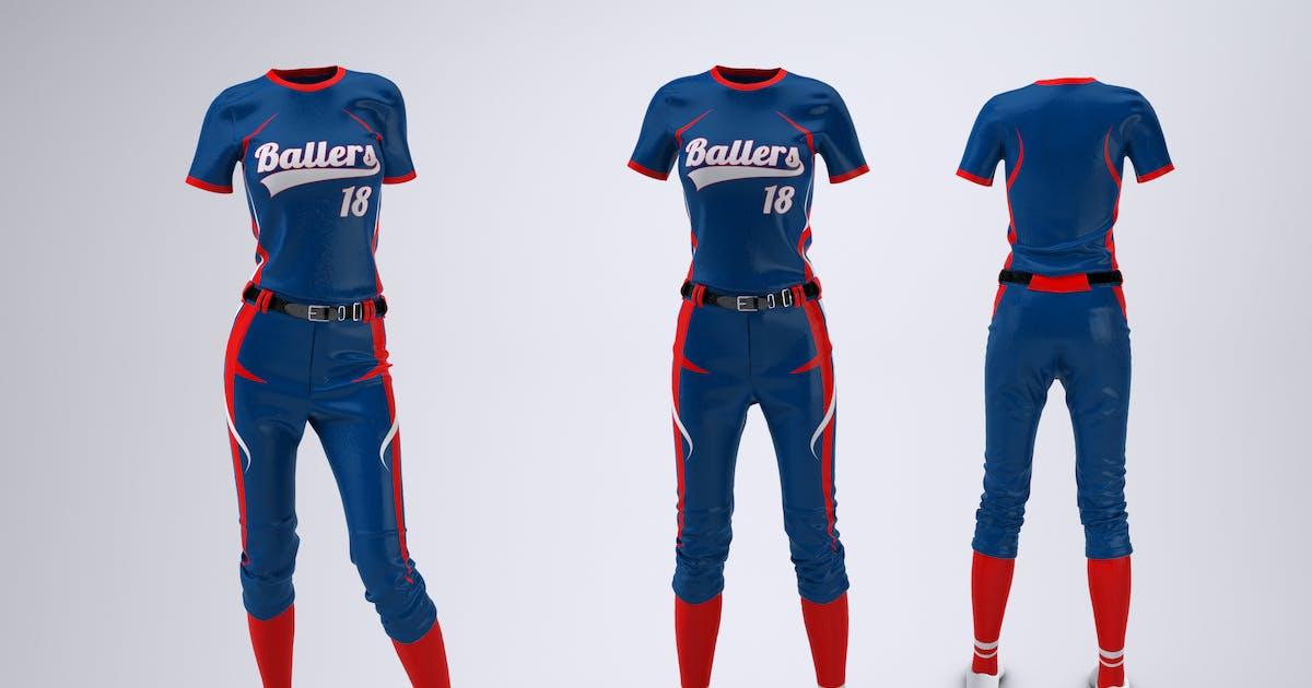 Download Women's Softball Uniform Mock-Up by Sanchi477
