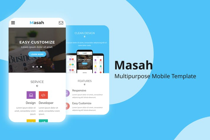 Thumbnail for Masah - Multipurpose Mobile Template