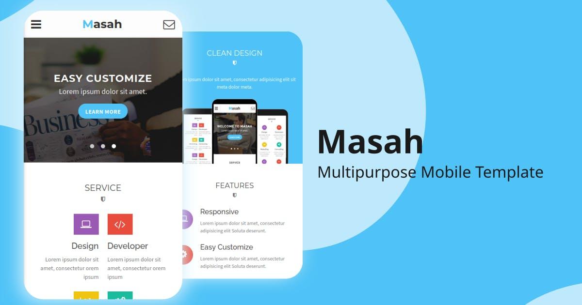 Download Masah - Multipurpose Mobile Template by Ngetemplates