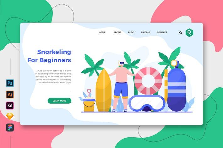 Schnorcheln für Anfänger Web & Mobile Landing Page