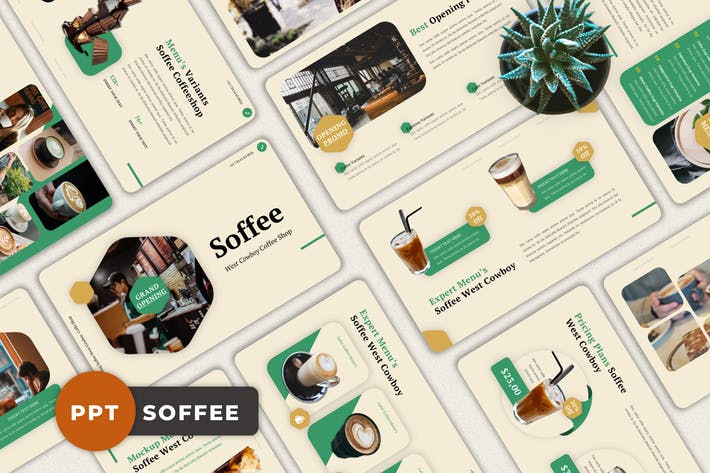 Thumbnail for Soffee - Coffee Shop Powerpoint Template