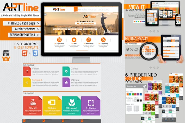 Thumbnail for Artline PSD Template