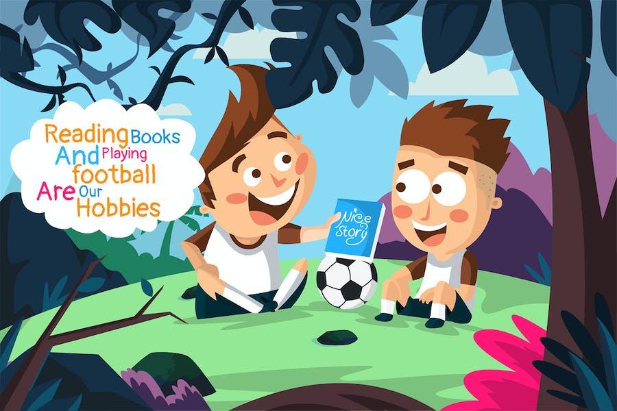 football hobbies - Illustration