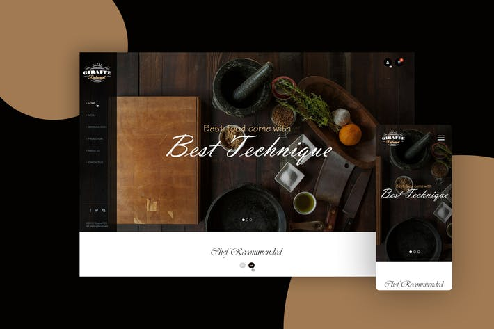Thumbnail for Restaurant Website Landing Page