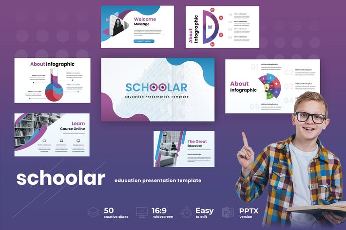 Thumbnail for Schoolar  - Education Powerpoint Presentation