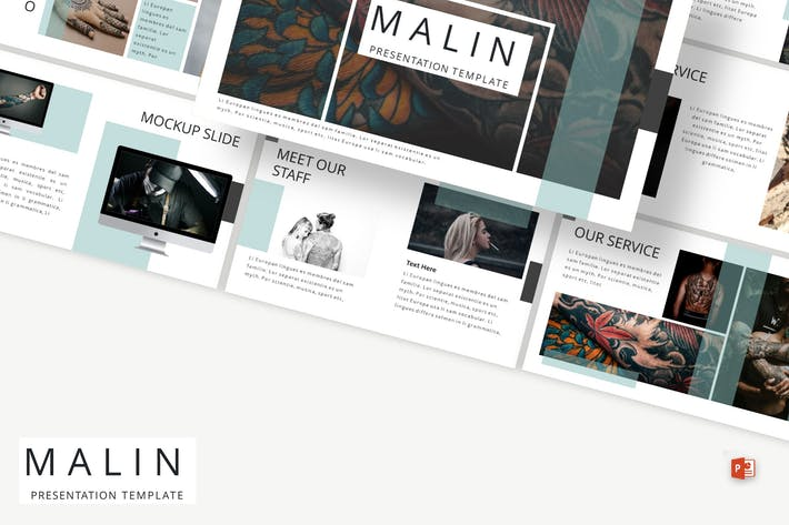 Thumbnail for Malin - Powerpoint Template