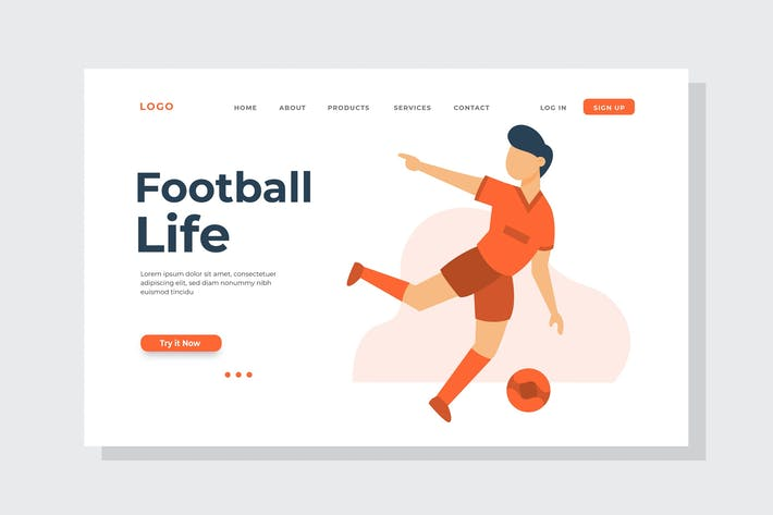 Thumbnail for Football Life Landing Page Illustration