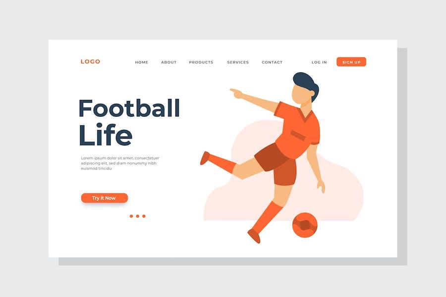 Football Life Landing Page Illustration