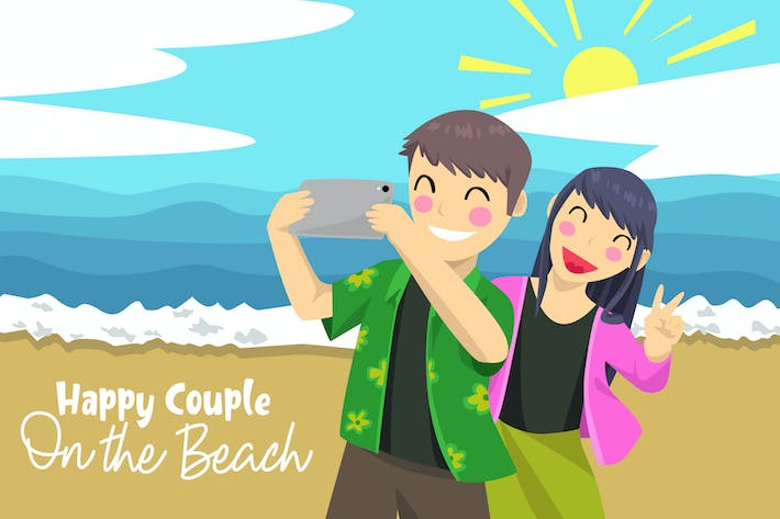 Thumbnail for Happy Couple - Vector Illustration