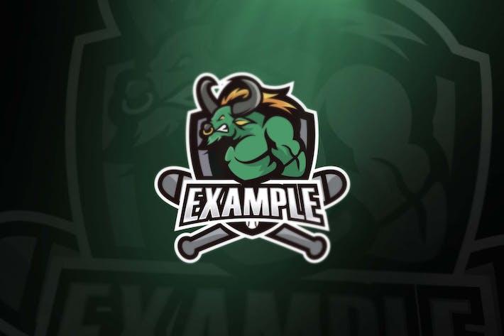 Thumbnail for Green Buffalo sport and esports logos
