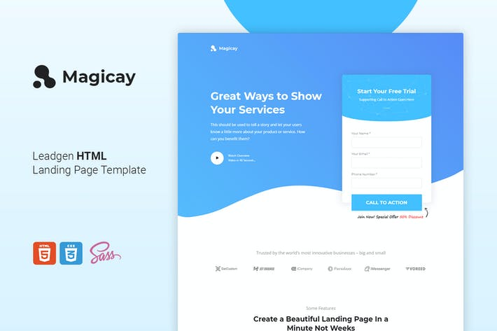 Thumbnail for Magicay - Business HTML Landing Page Template