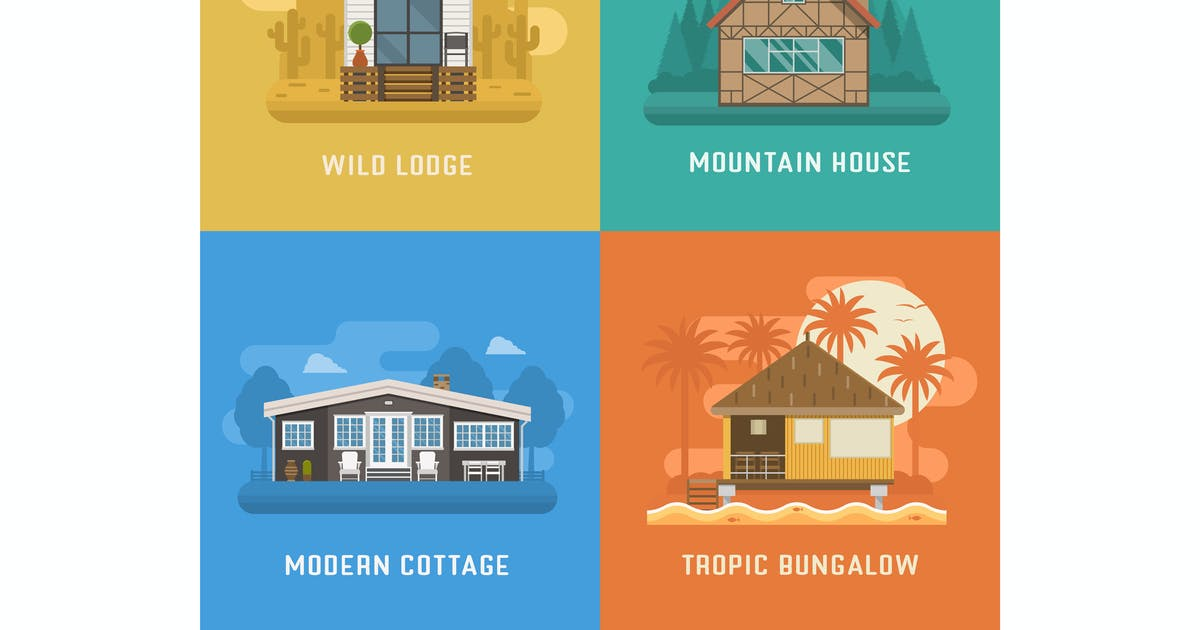 Download Houses and Living Places Set by krugli