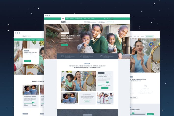 Thumbnail for HelpingHands - NonProfit/Charity PSD Template
