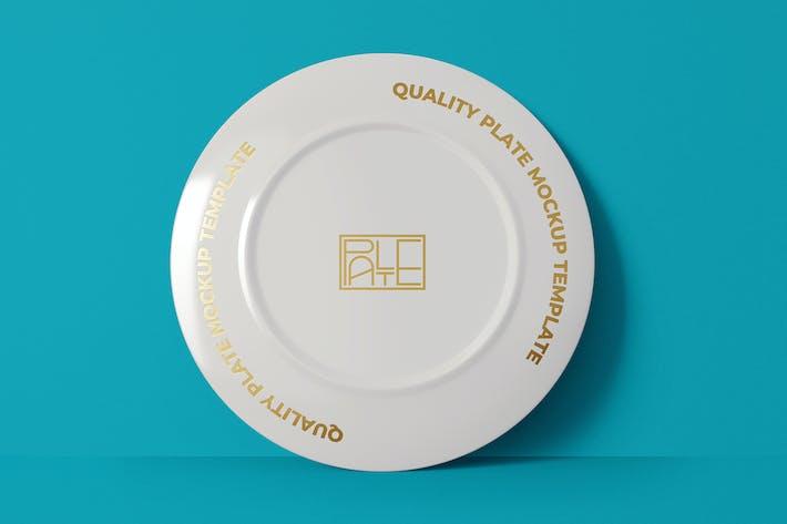 Porcelain Plate Mockup Template