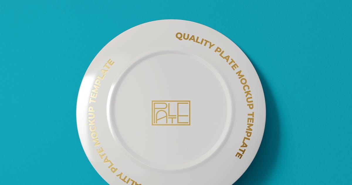 Download Porcelain Plate Mockup Template by EightonesixStudios