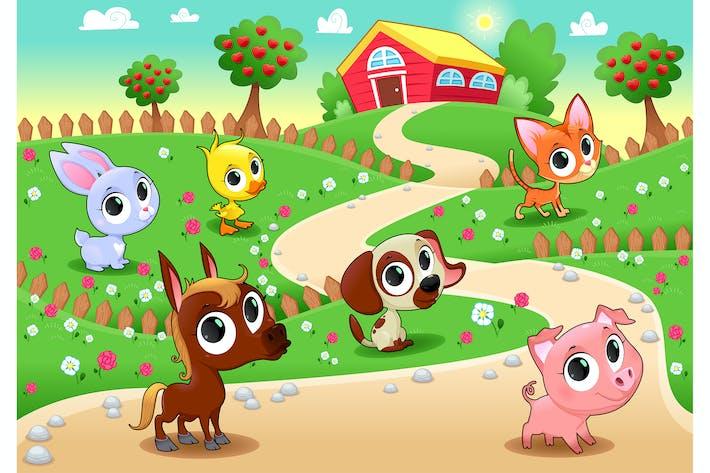Thumbnail for Bauernhoftiere