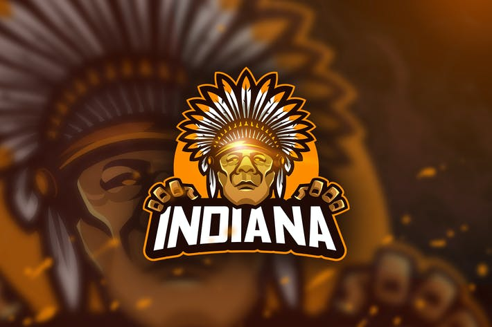 Thumbnail for Indiana - Mascot & Esport Logo