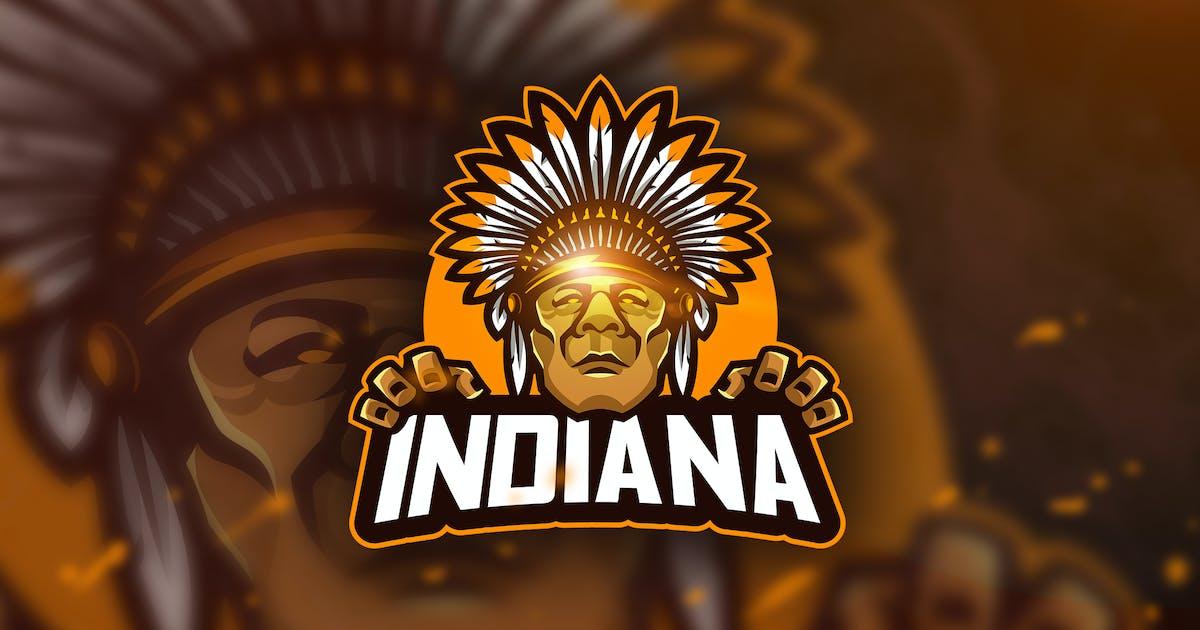 Indiana - Mascot & Esport Logo by aqrstudio