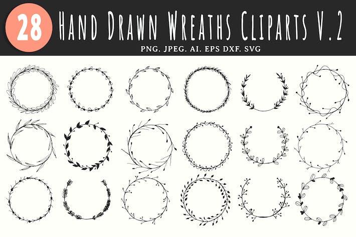 Thumbnail for 25+ Handmade Wreaths Cliparts V2