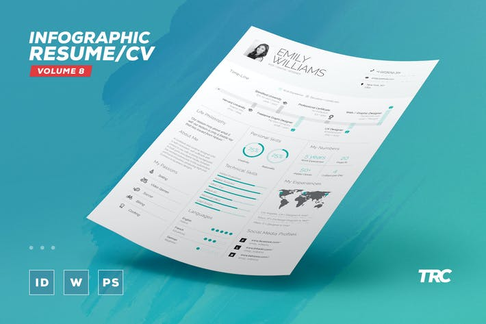 Thumbnail for Infographic Resume/Cv Volume 8