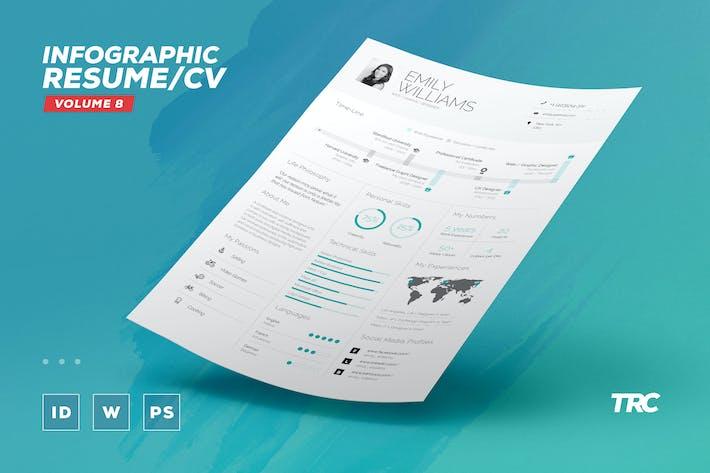 Thumbnail for Infographic Resume/Cv Volume 8