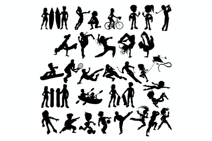 Thumbnail for Silhouettes of Athletes and Sportspeople